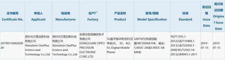 One plus 7 Pro 5G version won 3C certification: support 30W fast charge