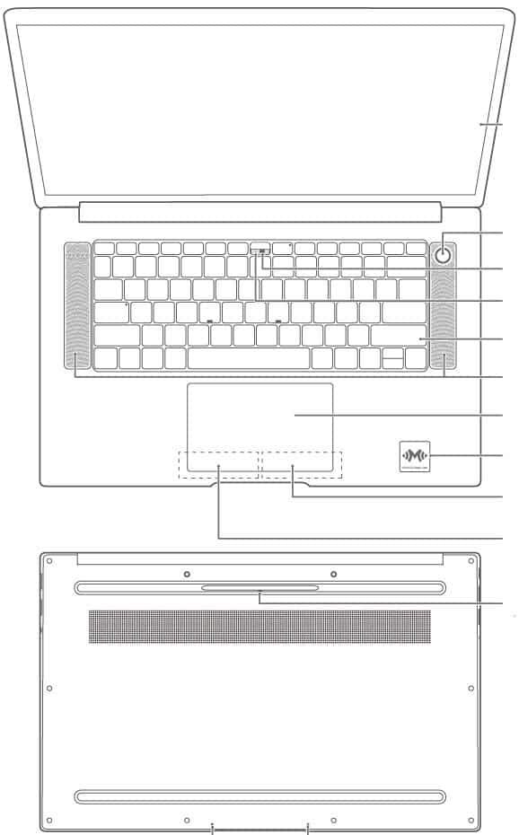 Honor MagicBook Pro design
