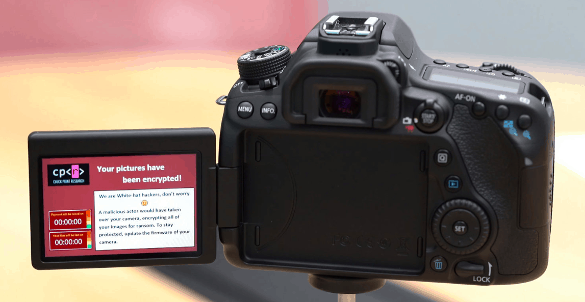 Canon EOS 80D firmware update get rid of ransomware attack