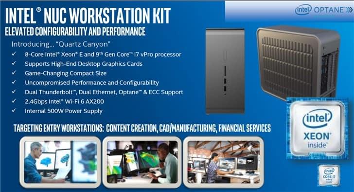 Intel Quartz Canyon workstation NUCs with replaceable GPUs leaked!