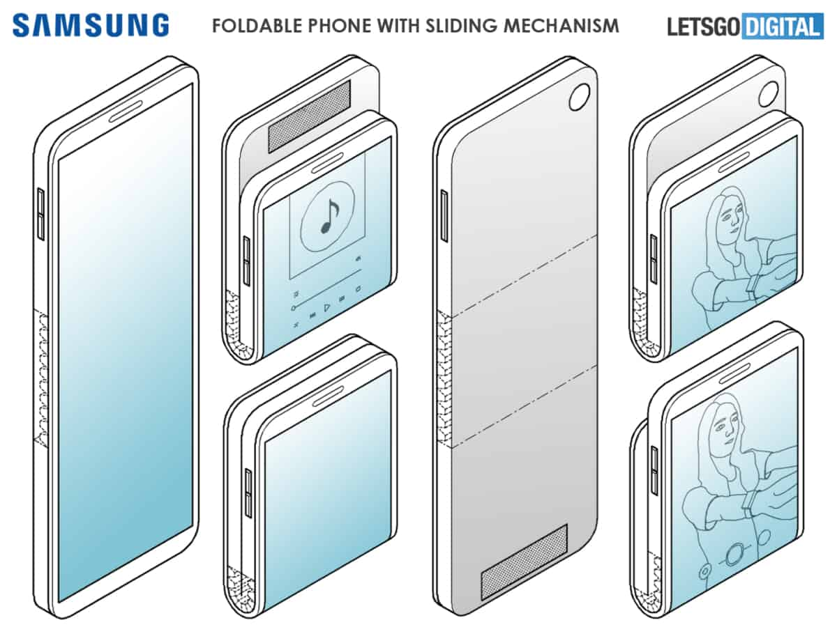 Samsung patents smartphone with multiple fold locations and wide hinge