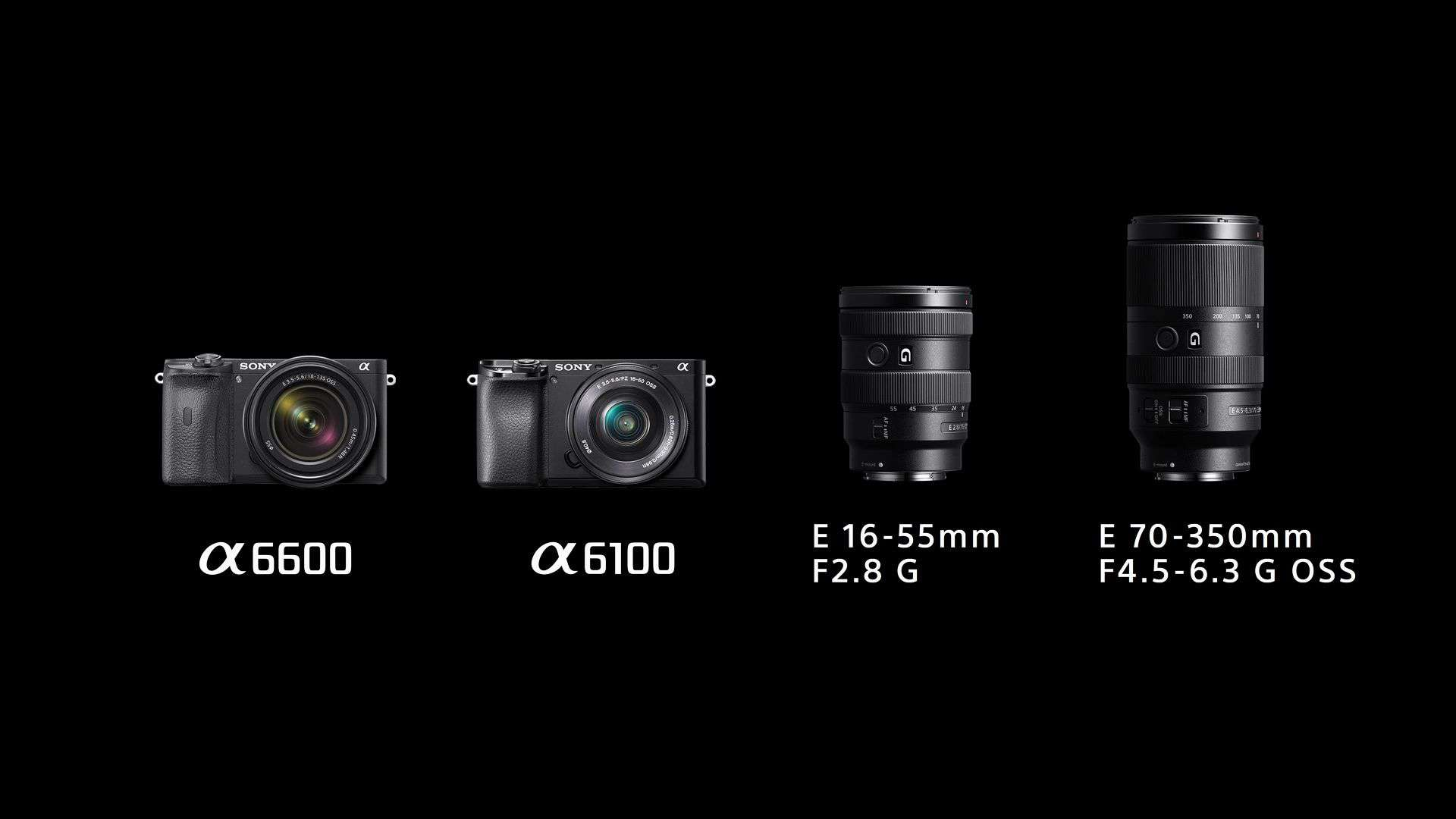 Sony unveils World's fastest A6600 and A6100 mirrorless cameras