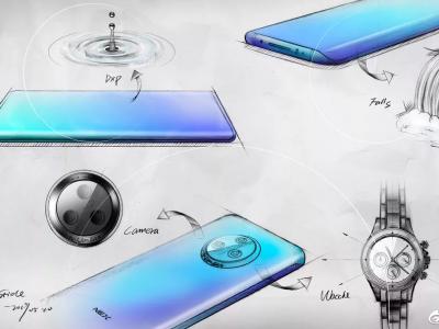 Vivo NEX 3 sketches confirm waterfall display & Circular Camera setup