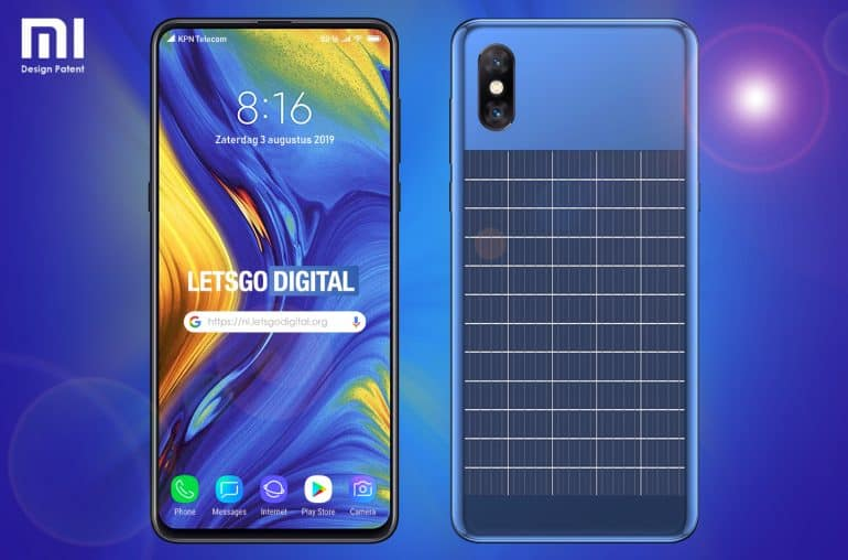 Xiaomi patents a smartphone with an in-built Solar Panel