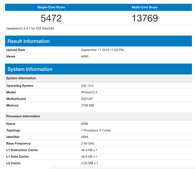 Apple A13 Bionic beats the Snapdragon 885+ SoC - verified by Geekbench