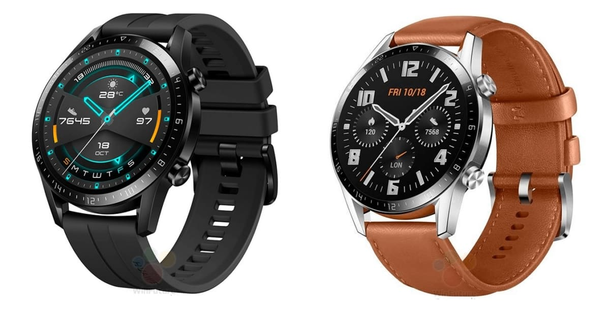 Huawei Watch GT 2 leaked press renders suggest, no Wear OS