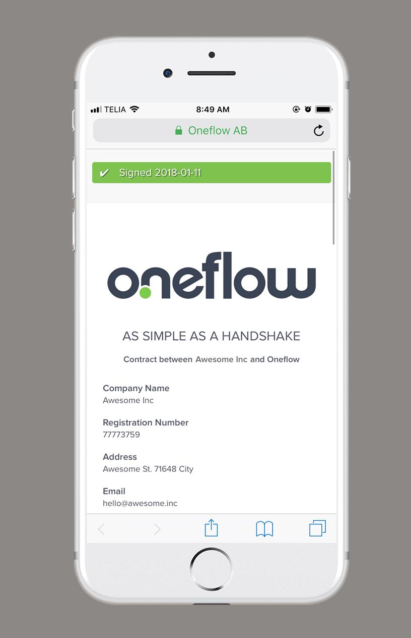 Oneflow - DocuSign Alternatives