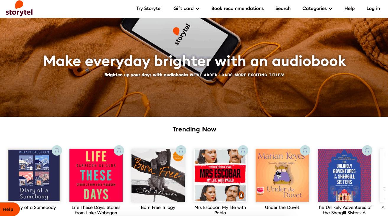 Storytel - Audible Alternatives