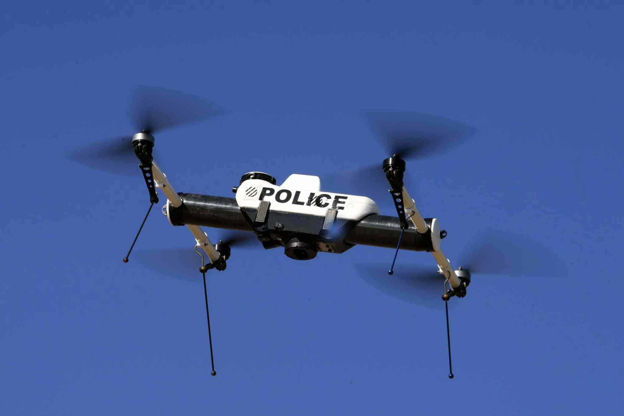 Traffic violation being monitored by drones in China
