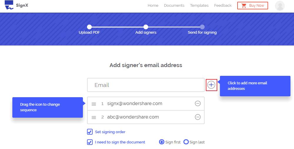 Wondershare SignX - DocuSign Alternatives