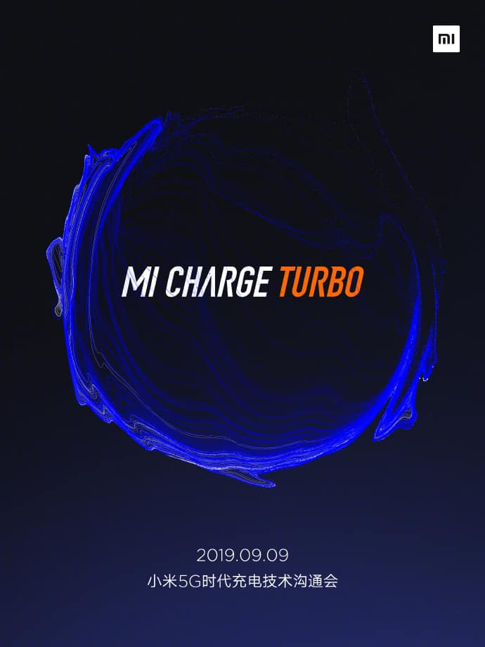 Xiaomi Mi Charge Turbo Wireless Charging technology on September 9