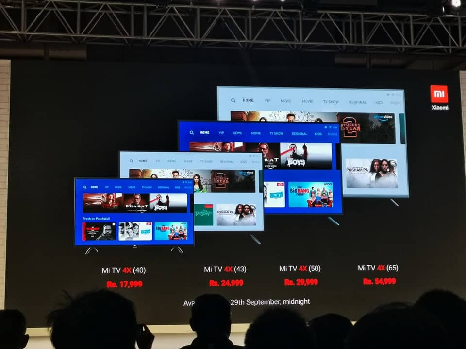Xiaomi Mi TV 4X 65-inch 4K TVs launched in India, priced at Rs 54,999