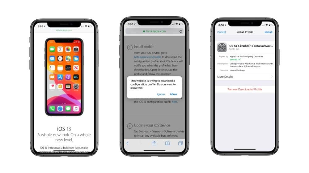 Sign up for iOS 13 public beta program