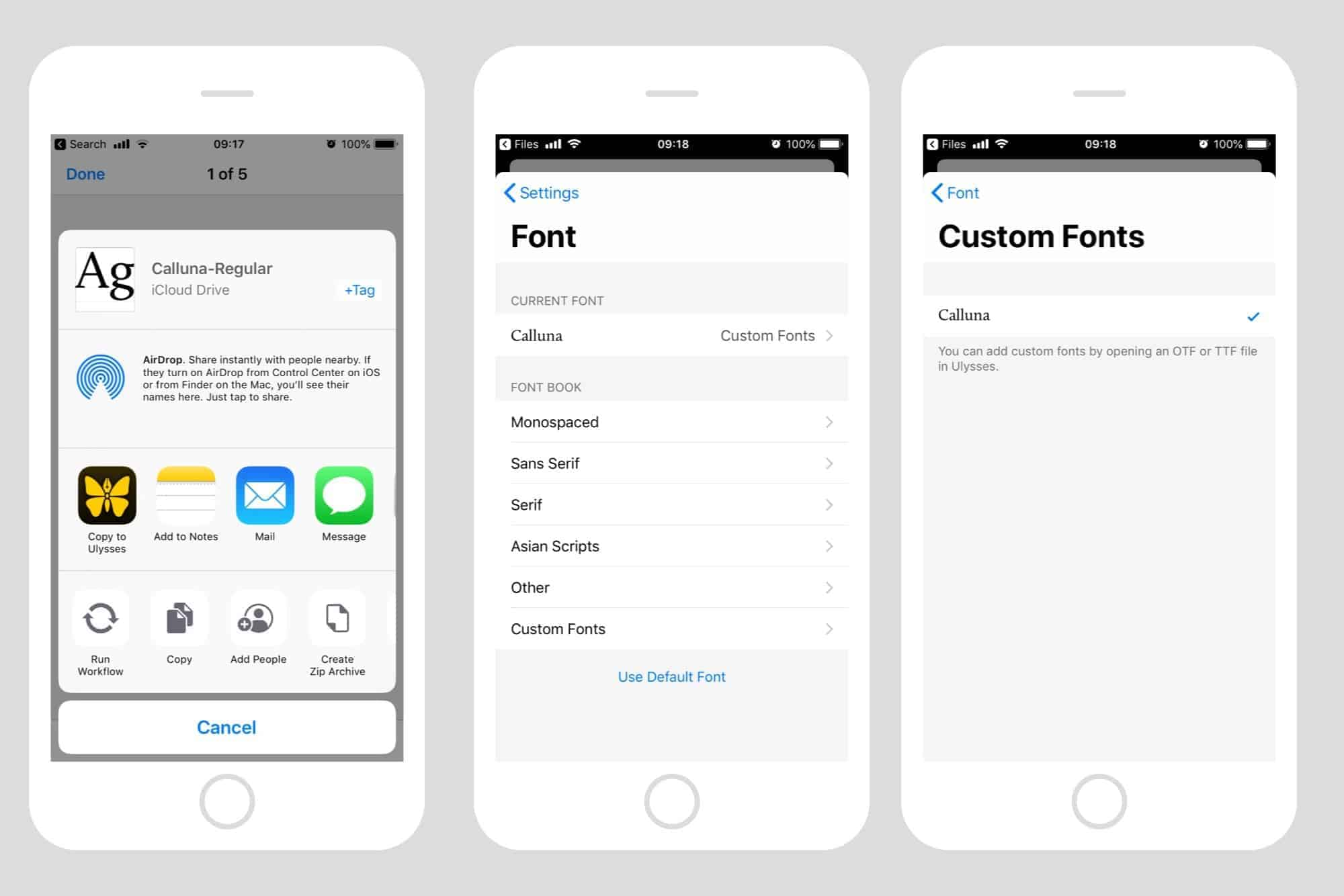 how to Install Custom Fonts on iPhone