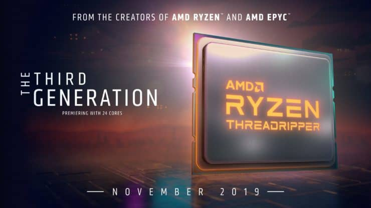 AMD Ryzen Threadripper 3000 processors & TRX40 chipset to launch on 5th November