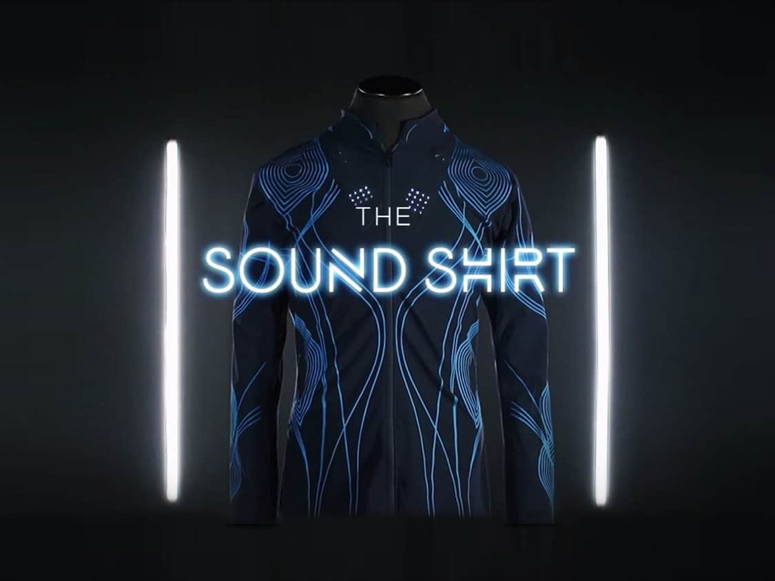"CuteCircuit develops ""Sound Shirt"" to offer music for deaf people"