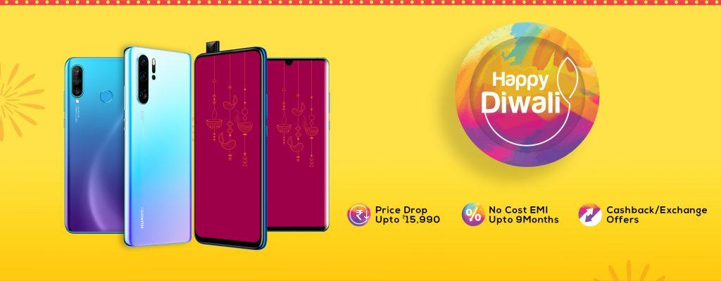 Huawei Diwali Offers & deals on smartphones, tablets & wearables
