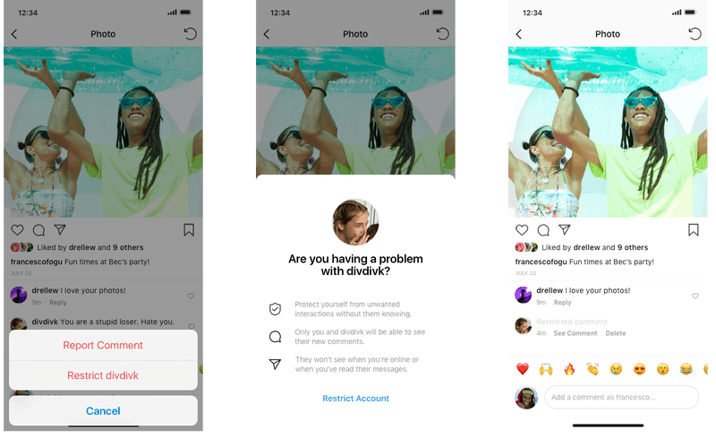 """Instagram has come up with new feature """"Restrict"""" to prevent bullying"""