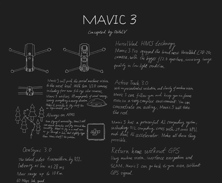 New leak suggest DJI Mavic 3 to feature a large lens aperture
