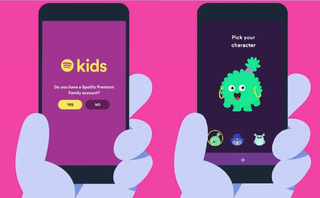 Spotify Kids, a dedicated music app for children with new UI and safety measures