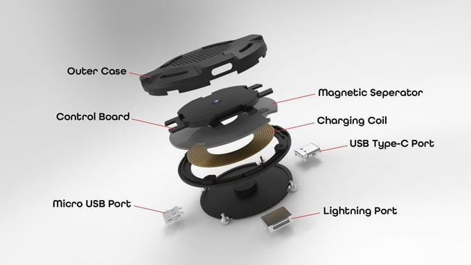 """""""QiPatch"""" Tiny Powerful Qi Wireless Charger, supports up to 15W fast charging"""