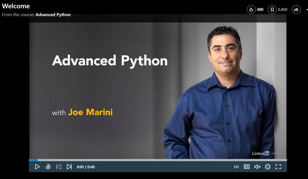 Advanced Python by Joe Marini
