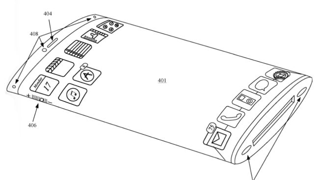 iPhone wraparound display Patent