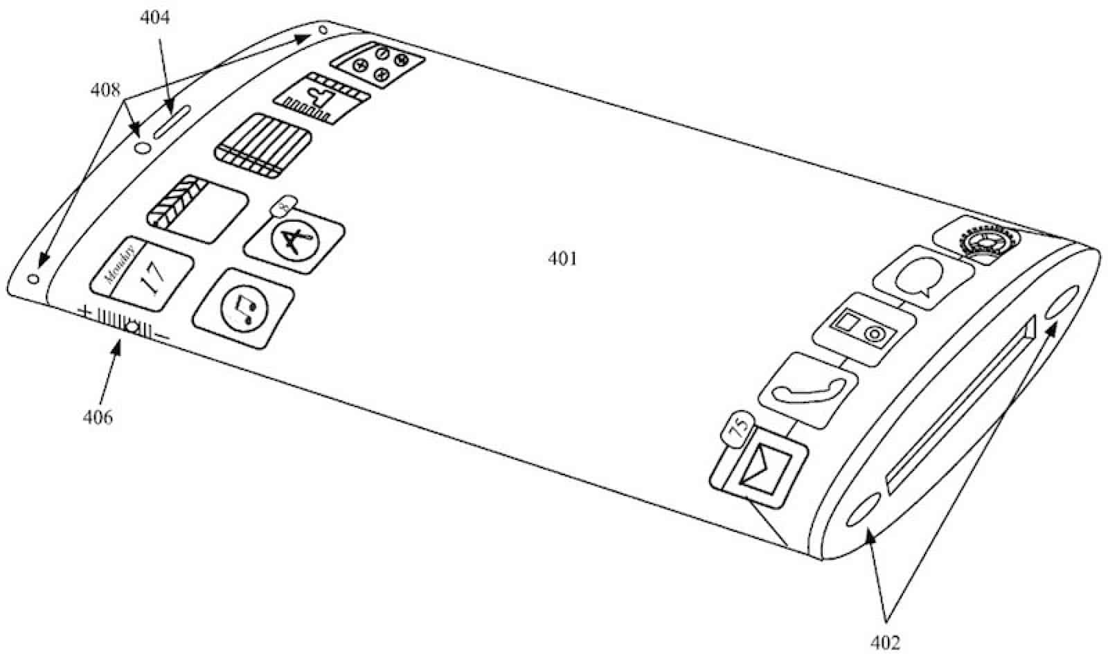 "Apple applied for ""wrap-around"" screen design patent for iPhone"