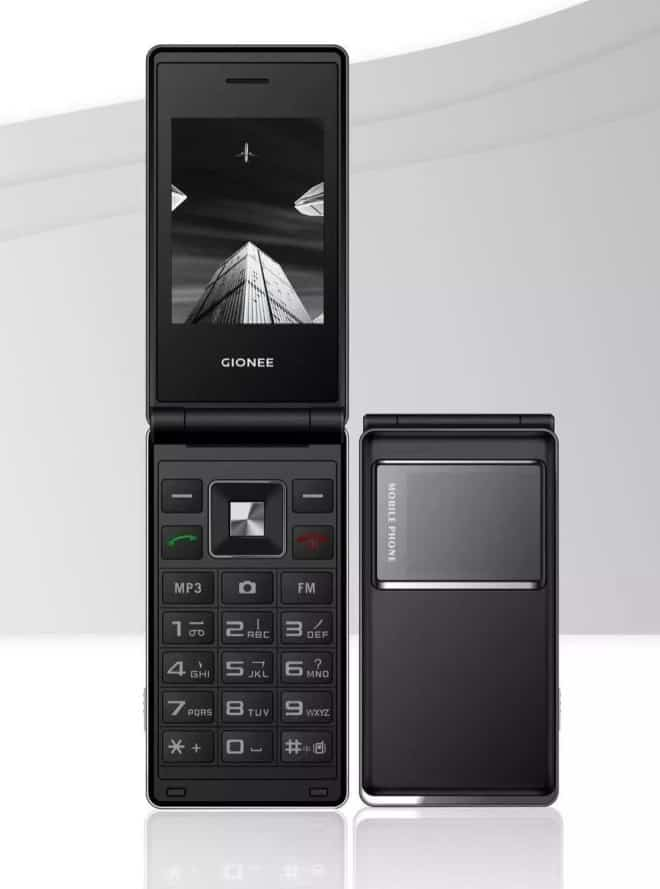 """Gionee A326 flip phone promoted as """"gold quality, the world"""""""