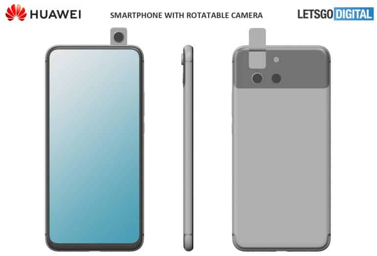 Huawei patents smartphone with dual rotating camera up to 180 degrees
