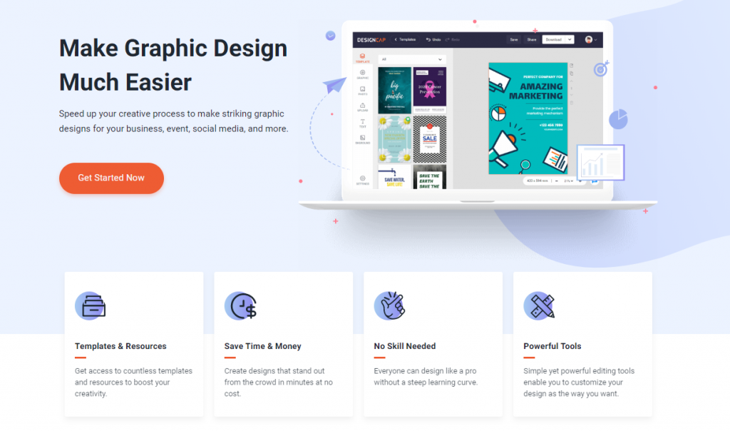 How to Create Visual Contents Online with DesignCap in 3 steps