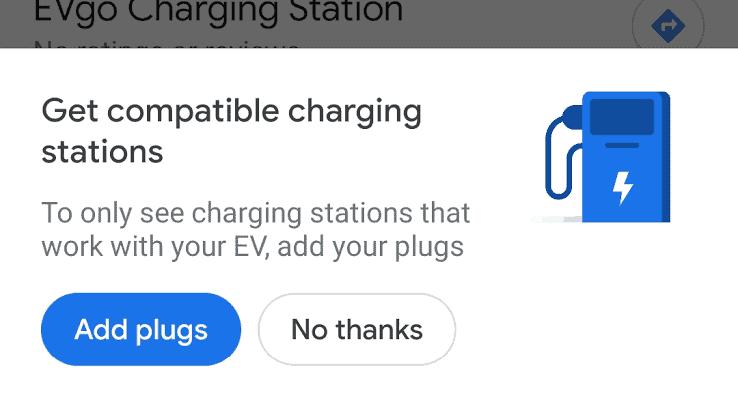 Google Maps adds filter for EV charging stations.