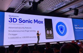 Qualcomm announces 3D Sonic Max fingerprint sensor