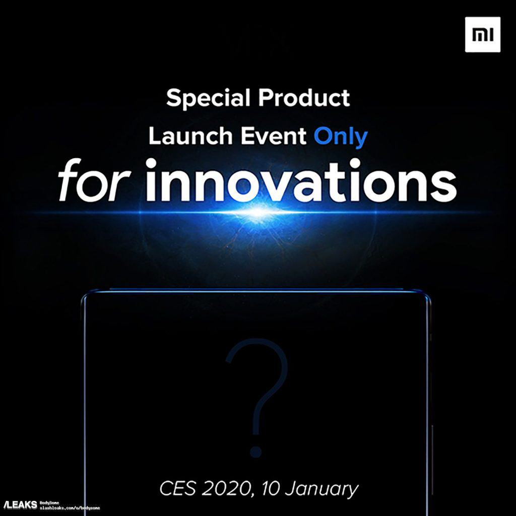 Xiaomi Mi Mix 4 release date set for 10th January 2020