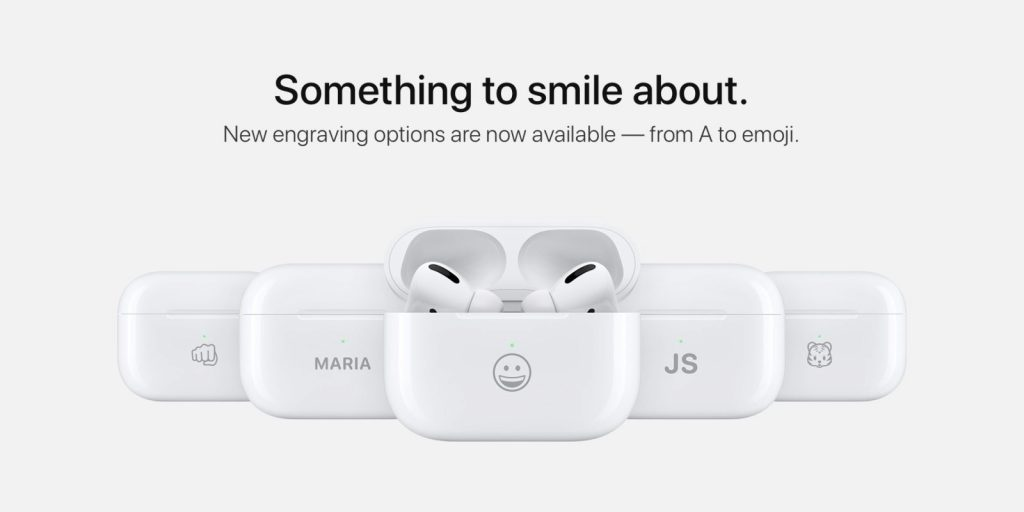 Custom engraving option integrated on AirPods Charging Case for Free