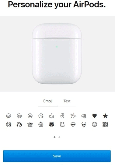 Emojis Engraved on AirPods Charging Case