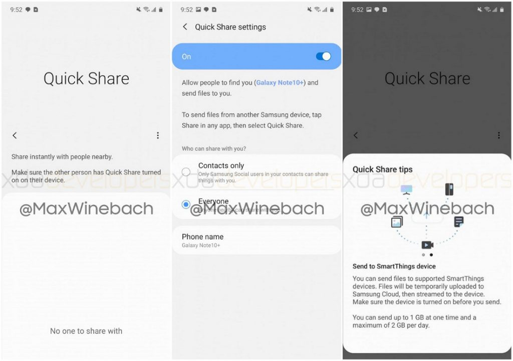 Samsung might integrate Quick Share app in upcoming Galaxy devices