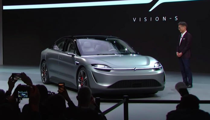 Sony unveils an electric car prototype