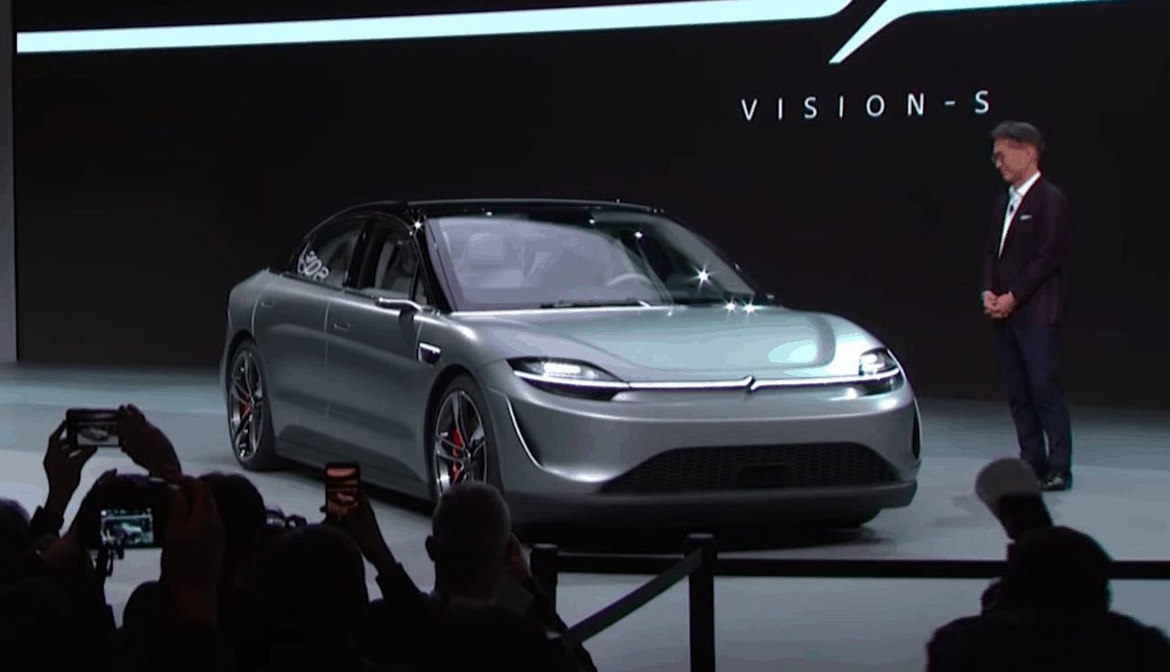 "Sony unveils an electric car prototype ""Vision-S"" at CES 2020"