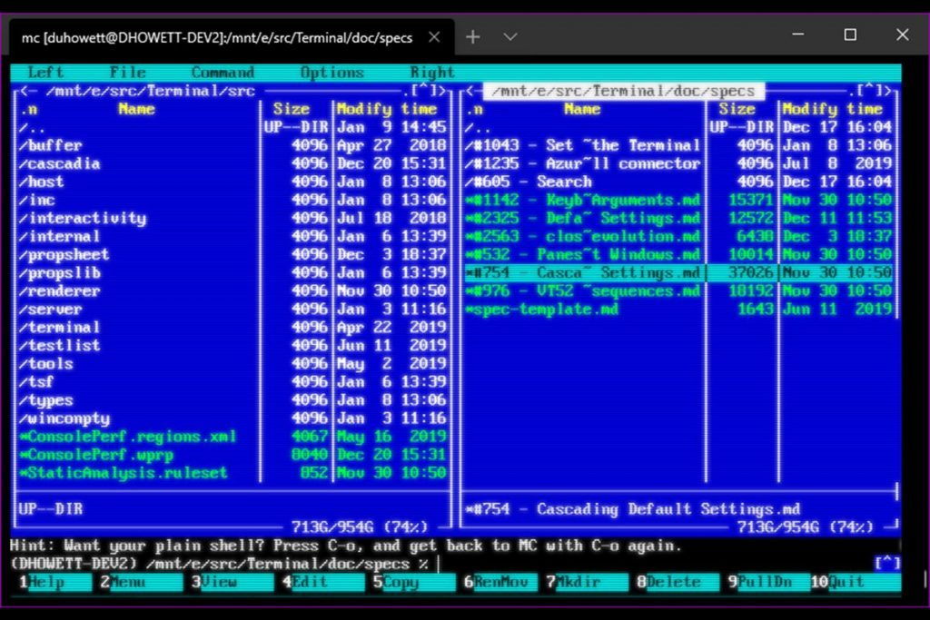Windows Terminal App update is getting CRT-Effects
