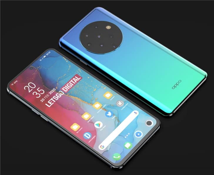 New Oppo Reno mobile phone with seven rear camera patented in China