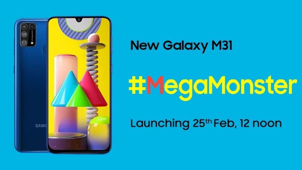 Samsung to launch Galaxy M31 in India on February 25