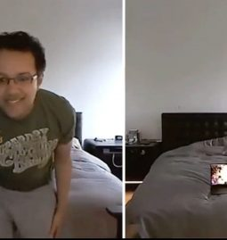 You can now make yourself disappear in front of your webcam