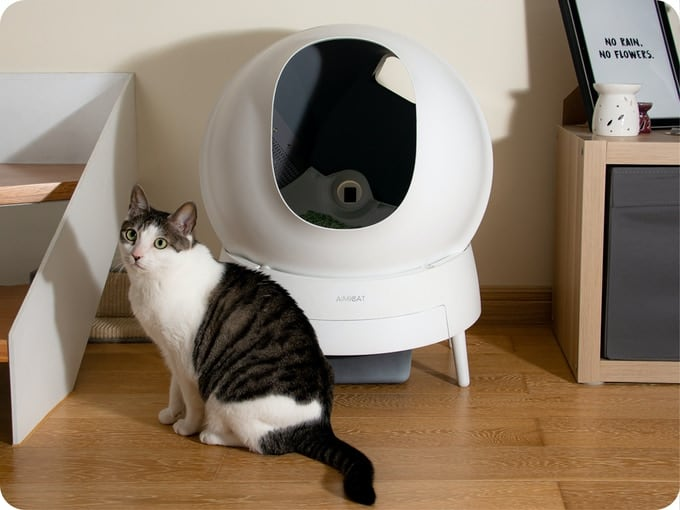 Aimicat - Automatic litter box that detects poop in 0.1 seconds using infrared sensors