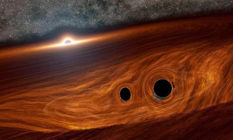 Scientists observe a flare of radiation from 2 colliding black holes