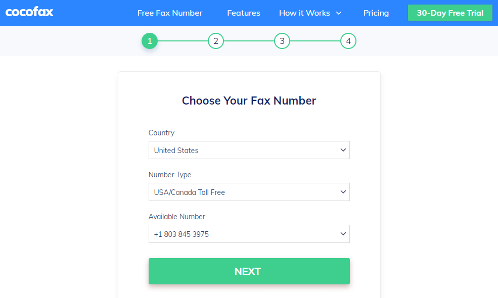 Choose Fax Number