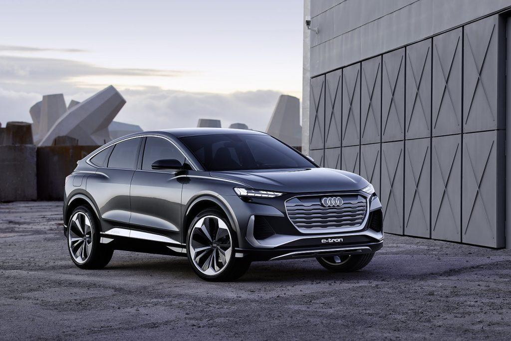 Audi unveils the Q4 sportsback e-tron : ~$45,000 worth sleek electric SUV.