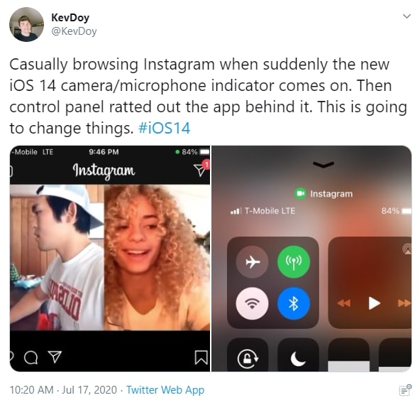 iOS 14 and Instagram