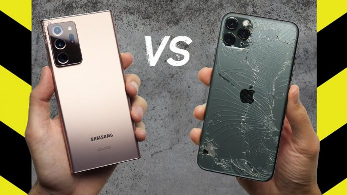 Drop Test: Samsung Galaxy Note 20 Ultra trumps over iPhone 11 Pro Max