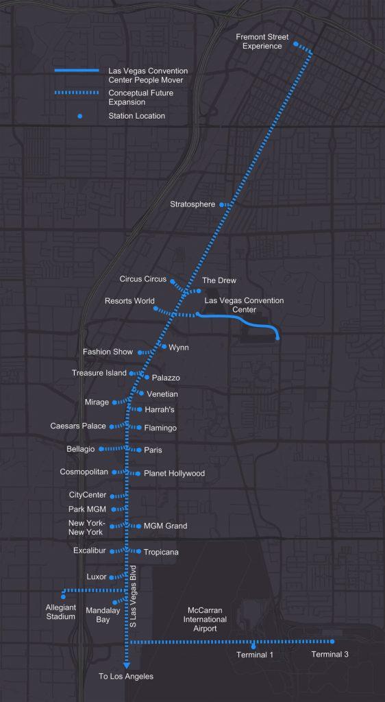 Boring company's Vegas Loop connection between LA and Las Vegas